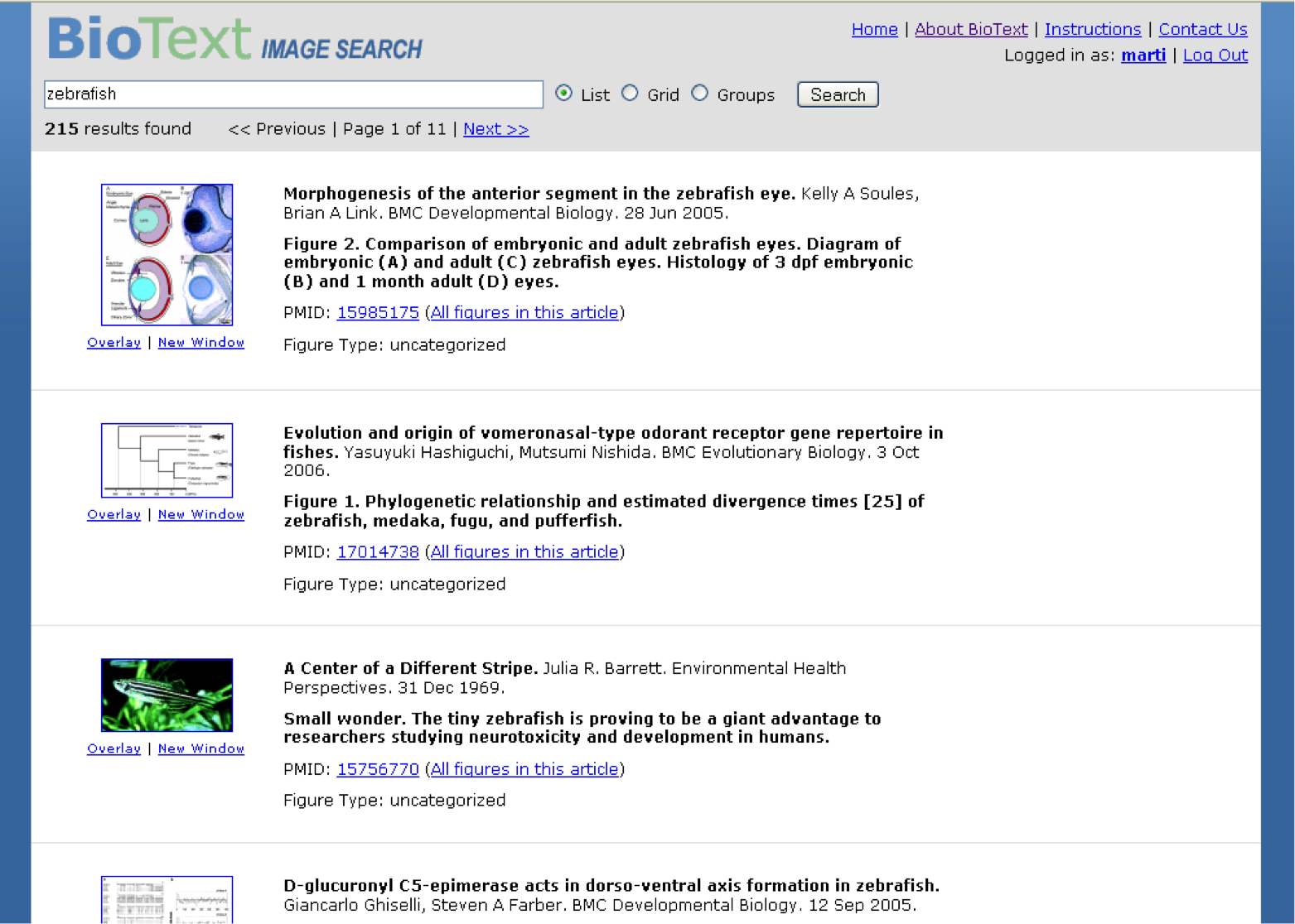 BioText Search Engine